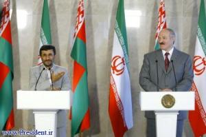 Preidents Ahmadinejad and Lukashenko