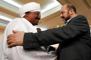 Sudan's President and Hamas leader Moussa Abu Marzouk