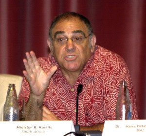 Ronnie Kasrils- Minister of Intelligence (2004-2008), Republic of South Africa