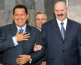 Presidents Chavez and Lukashenka