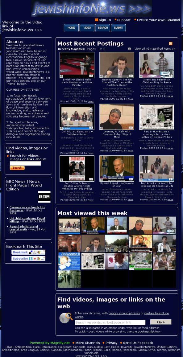 jewishinfoNews  October 28 2009 r