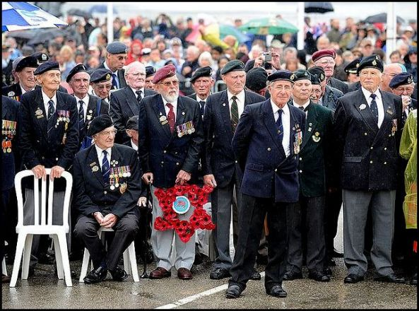 Members of the Normandy Veterans Association remember fallen comrades. (Photo: Crown copyright). The Normandy landings, codenamed Operation Neptune, were the landing operations on 6 June 1944 (termed D-Day) of the Allied invasion of Normandy in Operation Overlord during World War II.