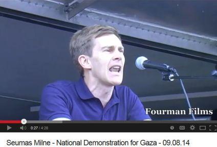 Seumas Milne National Demonstration for Gaza - 09_08_14
