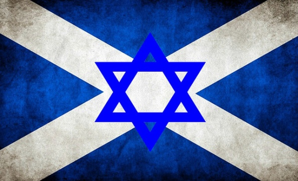 Scotland Jewish Flag